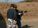 Captain Dave give me lessions on the assault rifle.